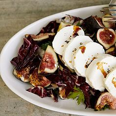Fresh Goat Cheese and Radicchio Salad with Figs Recipe