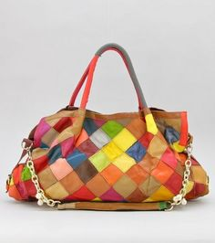 Multi Color Genuine Leather Handbags At Bagmadness Deals