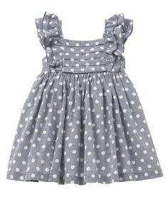 Mothercare Blue Spot Chambray Dress