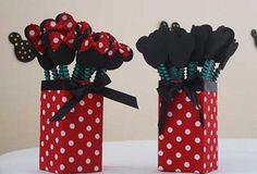 Molde e lembrancinha da Minnie vermelha e Minnie rosa - Pediatra ...
