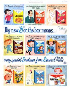 Vintage cereal ads