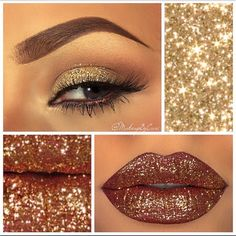 Glitter make up @makeupbycari