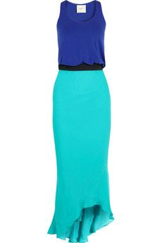 Mason by Michelle Mason Jersey and silk maxi dress | THE OUTNET