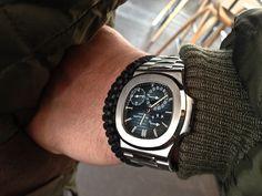 #patek #nautilus #wristshot Men's Watches, Watches For Men, Nautilus, Beautiful Watches, Smart Watch, Classy, Mens Fashion, Black, Products
