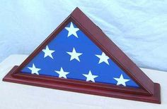 4' X 6' Flag Display Case Flag Storage Shadow Box (NOT for Burial Flag Size), Solid Wood, CHERRY Finish (FC03-CH) by NULL. $39.95. Holds only the 4' X 6' Flag, please measure you flag and confirm the size before purchase.. With bottom space for personalized engraving plate. Made from solid wood. No assembly required. Comes in one piece. Contact us if you need different wood finishes. Triangle Flag Display Case. Preserve and display a cherished flag in this handsome polis...
