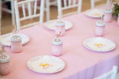 Guest Tablescape from a Pink Carousel Birthday Party via Kara's Party Ideas! KarasPartyIdeas.com (8)