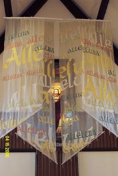 Easter banners (2006), and other liturgical decorations