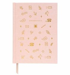 This address book is full of charming details, including a gold foil-accented book cloth cover, a ribbon page marker, illustrated end pages, and sections for your favorite people and important dates. Address Books, Page Marker, Calendar Pages, Writing Pens, Rifle Paper Co, Color Rosa, Foil Stamping, Getting Organized, Paper Goods