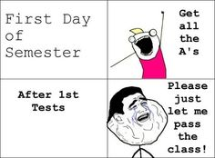 First day of semester  Click for more Funny Pictures --> http://www.funnypicshub.com