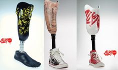 GRAFFITI COVERED PROSTHETIC ARMS AND LEGS FROM FRANCE
