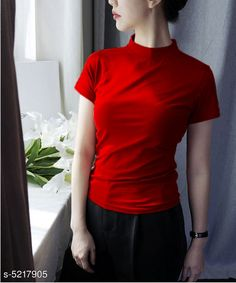 Tshirts Trendy  Stylish Women's T Shirts Fabric: Cotton Sleeve Length: Short Sleeves Pattern: Solid Multipack: 1 Sizes: S (Bust Size: 36 in Length Size: 25 in) XL (Bust Size: 42 in Length Size: 25 in) XS (Bust Size: 34 in Length Size: 25 in) L (Bust Size: 40 in Length Size: 25 in) M (Bust Size: 38 in Length Size: 25 in) Country of Origin: India Sizes Available: XS, S, M, L, XL   Catalog Rating: ★3.9 (7745)  Catalog Name: Classy Fashionista Women Tshirts CatalogID_772460 C79-SC1021 Code: 902-5217905-924