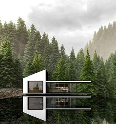 Russian Architect Merges Nature and Architecture Designing Modern House Idyll Architecture Résidentielle, Minimalist Architecture, Sustainable Architecture, Norway Design, Forest House, Diy Garden Decor, Modern Buildings, Modern House Design, Modern Luxury