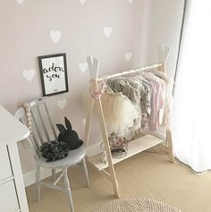 Wood Clothing Rack, Baby Olivia, Baby Boutique, Baby Room Decor, My Baby Girl, Kids Bedroom, Wardrobe Rack, Montessori, Nursery