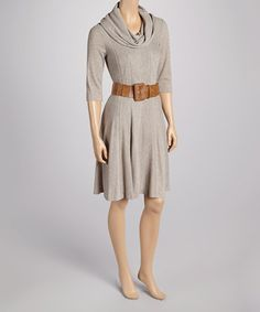 Cowl neck sweater dress, I would make this in a forest green jumper weight knit. Calf length with a slightly flared skirt.