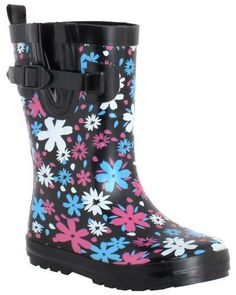Capelli New York Rain Drop Ditsy Ladies Casual Short Body Rain Boot Capelli New York. $17.99