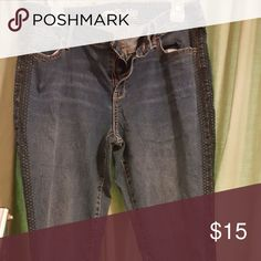 Skinny jeans Super cute jeans with lacelike detail down the sides Old Navy Jeans Skinny