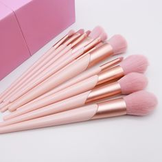 Pink makeup brushes set available wholesale~