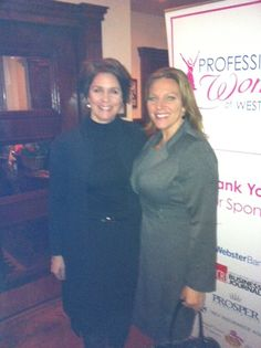 """Professional Women of Westchester, @ProfWomenWest """"Shero"""" Award networking event. Congratulations to recipient Maria Freburg of Webster Bank."""