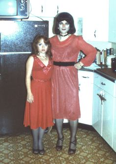 Husband and wife before going out 1980