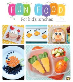 It's Written on the Wall: 35 Different Fun FoodsYou Can Make For the Kids Lunches-They're Going to LOVE Them!