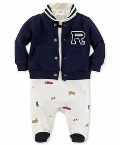 Ralph Lauren Baby Set, Baby Boys 3-Piece Coverall, Bodysuit, and Jacket