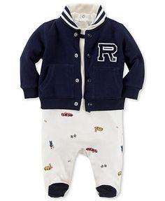 Ralph Lauren Baby Set, Baby Boys 3-Piece Coverall, Bodysuit, and Jacket