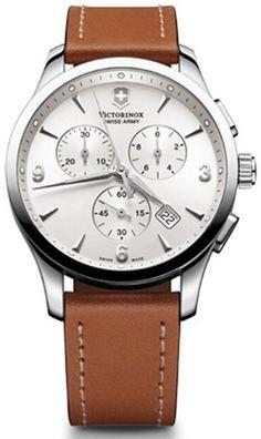 Victorinox Swiss Army Alliance Chronograph Brown Strap Mens Watch