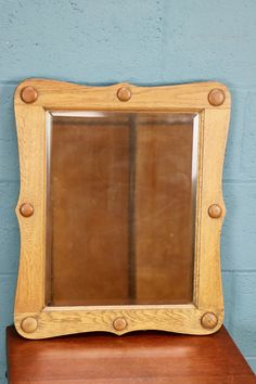 Arts and Crafts Oak Mirror http://www.walcotandco.co.uk/other-furniture/arts-and-crafts-oak-mirror