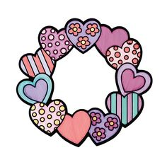 Color Your Own Fuzzy Valentine Wreaths - OrientalTrading.com
