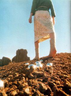 Smoke & Mirrors. Magazine: Elle US March 1999. Photographer: Anette Aurell.