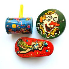 Vintage noise makers, obnoxious, and very cool.