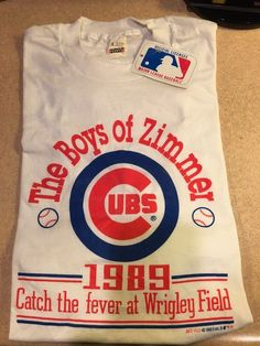 """Chicago Cubs - Vintage Tshirt - Circa 1989 """"The Boyz of Zimmer"""" - New, With Tags #ChicagoCubs"""