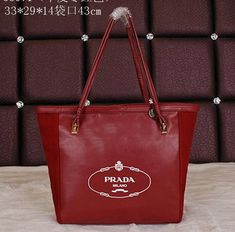 Real Purses Online Smooth Leather Shoulder Bag Burgundy - - Smooth Leather- Brass hardware- Double leather handles- Top zip Closure- Signature Prada logo on front- Fine Prada textile lining- Inside zip pocketSize: x x cm Leather Handle, Smooth Leather, Leather Shoulder Bag, Shoulder Bags, Brass Hardware, Prada, Burgundy, Tote Bag, Purses