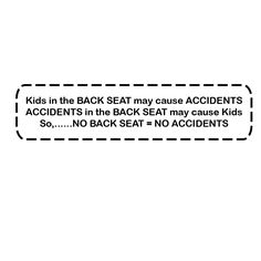 Funny Car Decal, Kids in the Backseat