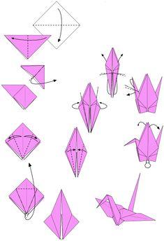 Kraanvogel Vouwen Origami