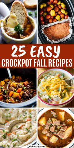 fall recipes 25 Best Fall crockpot recipes thatll keep you warm this year! These Fall crockpot recipes are so easy, delicious and hearty! Make sure you stay warm this Fall with my favorite crockpot recipes! Fall Crockpot Recipes, Slow Cooker Recipes, Cooking Recipes, Healthy Recipes, Best Crockpot Meals, Slow Cooking, Crock Pot Slow Cooker, Tostadas, Clean Eating Snacks