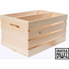 Crates and Pallet Divided Large Wood Crate