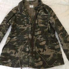 Army jacket Zipper/button up jacket barely worn Old Navy Jackets & Coats Utility Jackets