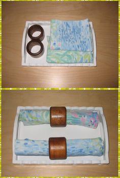 Plier et enrouler une serviette