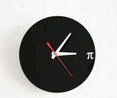 Pi Wall Clock Geek Nerd Math Chic by iluxo on Etsy - StyleSays