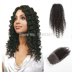Fashion 6A Mongolian Deep Wave Curly Virgin Hair Lace Closure Cheap Black #1B Free Part 4*4 Top Swiss lace Closure Free Shipping,High Quality lace frontal closure,China lace hair closure Suppliers, Cheap lace negligee from Hot Queen Hairs Co., Ltd on Aliexpress.com www.hotqueenhairs.com