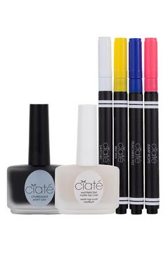Ciaté 'Chalkboard' Manicure Set Pens are water-soluble so you can erase and re-draw!