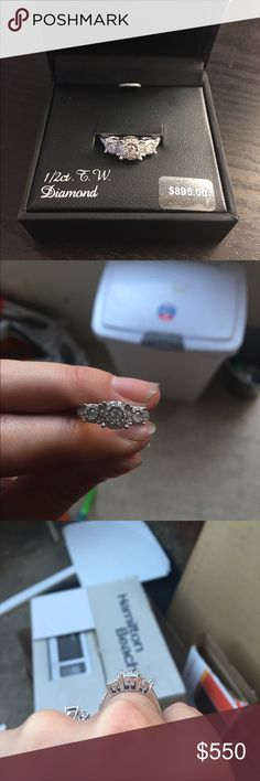 Beautiful engagement ring. New with tags Size 7, brand new never worn. 1/2 ct T.W Diamond. Paid 895$ for it. kohls Jewelry Rings