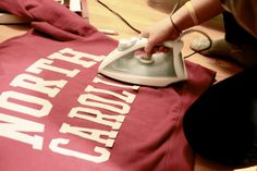 iron-on lettered sweatshirt