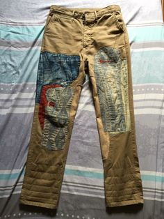 Hipster Fashion, Vintage Fashion, Mens Fashion, Denim Patchwork, Denim Fabric, Wicked Clothing, Edwin Jeans, Patched Jeans, Denim Flares