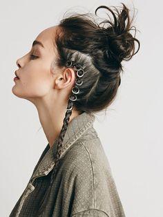 hairstyle, blog aurora vega inspiración peinados, hairpiercing, piercing en el pelo