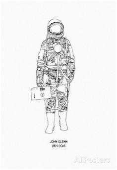 Mercury Pressure Suit - 1921-2016 Posters at AllPosters.com