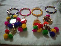 New Ideas craft bead kids girls Silk Thread Bangles Design, Thread Jewellery, Fabric Jewelry, Antique Jewellery Designs, Antique Jewelry, Jewelry Design, Stylish Jewelry, Fashion Jewelry, Gota Patti Jewellery