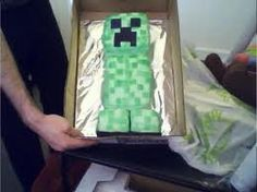 minecraft creeper cake - Google Search