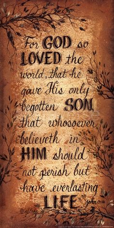 ~Thank you God! ♥ ~ John 3:16 ~